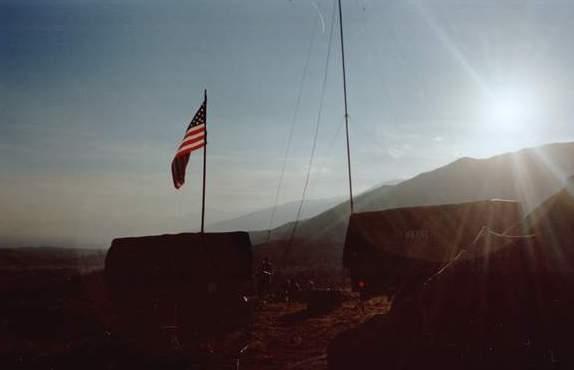 641 Flag and sun.