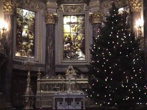 Inside the Berliner Dom.