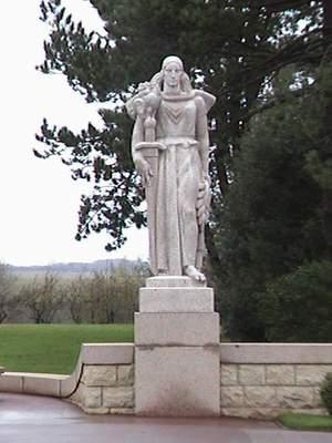 Normandy statue