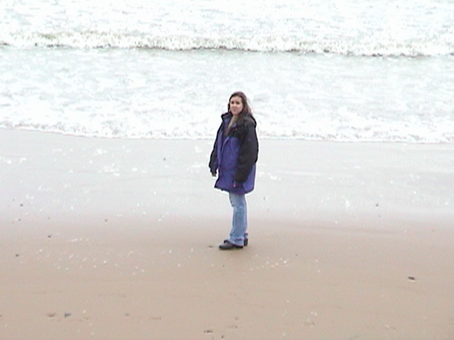 Holly on Omaha Beach