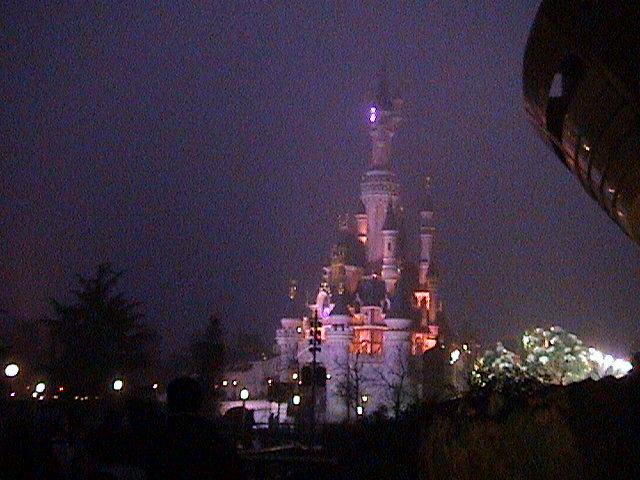 Magic Castle at night.