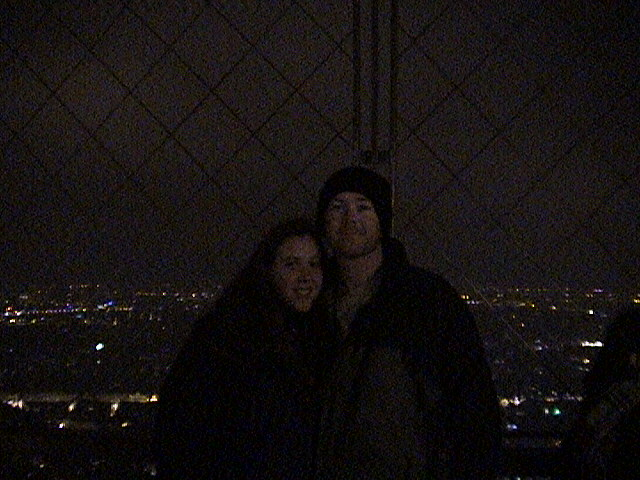 Holly and Larry at the Eiffel Tower