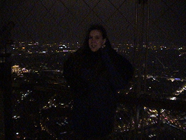 Holly at the top of the Eiffel Tower.