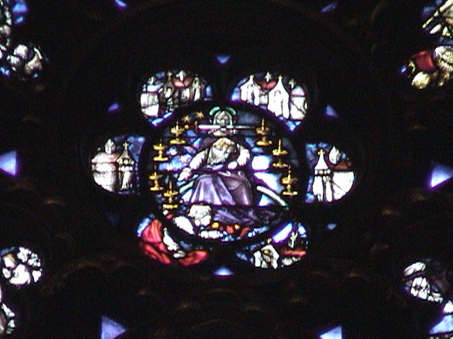 Sainte-Chapelle window.