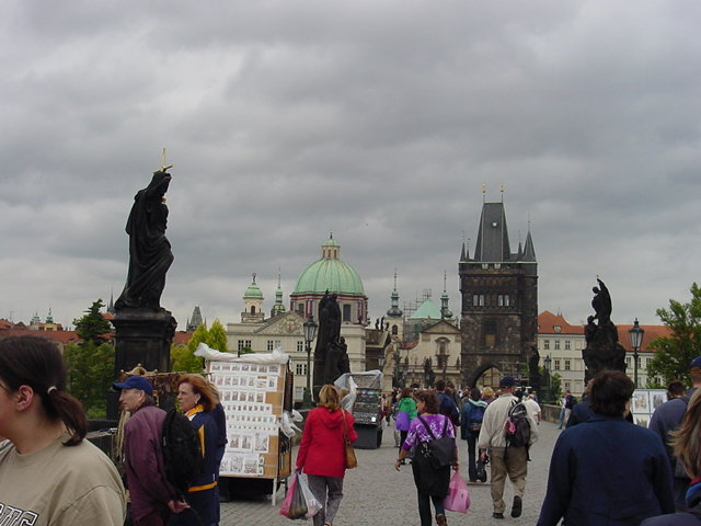 View on Charles Bridge.