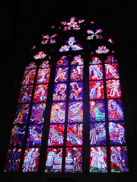Cathedral window.
