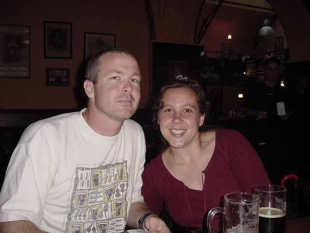 Larry and Holly at the first pub.