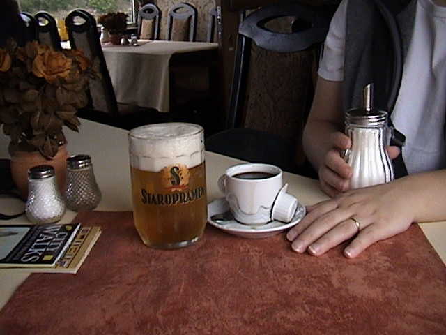 Coffee and beer.