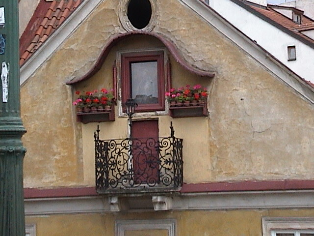 House next to Charles Bridge.