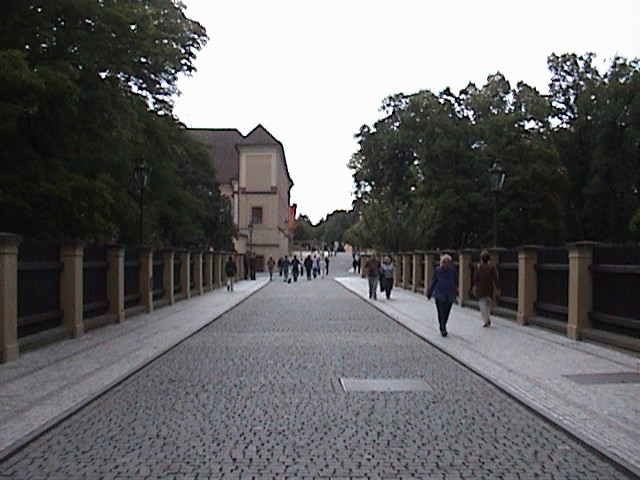 Walkway to the castle entrance.