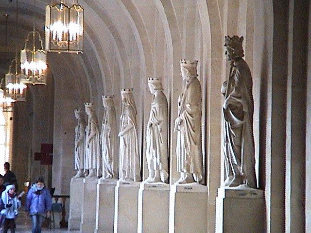 Versailles, king statues.