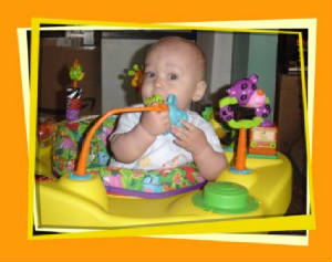 Ryan in his exersaucer.